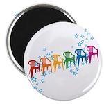 Rainbow Patio Chairs Magnet