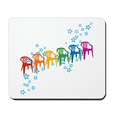Rainbow Patio Chairs Mousepad