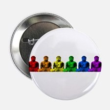 Row of Rainbow Buddha Statues Button