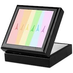 Rainbow Eiffel Tower Keepsake Box