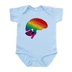Rainbow Brain Infant Bodysuit