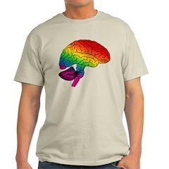Rainbow Brain Ash Grey T-Shirt