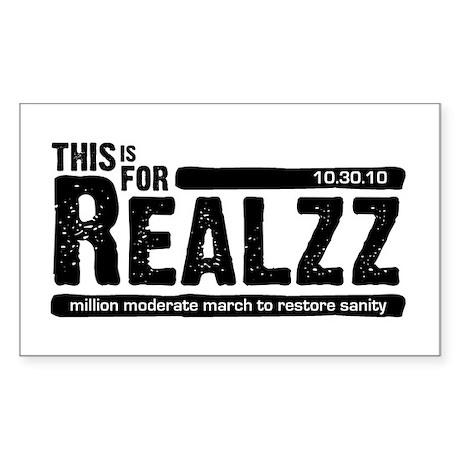 For Realzz Sticker (Rectangle 50 pk)