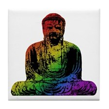 Rainbow Buddha Tile Coaster
