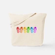 Rainbow Flip-Flops Tote Bag
