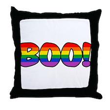 Halloween Rainbow BOO Throw Pillow