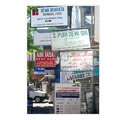 Kuta Street Signs -- Bali Postcards (Package of 8)