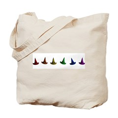 Rainbow Witch Hats Tote Bag