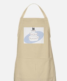Two Grooms Wedding Cake BBQ Apron