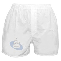 2 Brides Wedding Cake Boxer Shorts