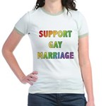 Support Gay Marriage Jr. Ringer T-Shirt