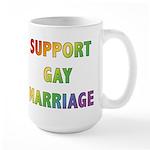Support Gay Marriage Large Mug