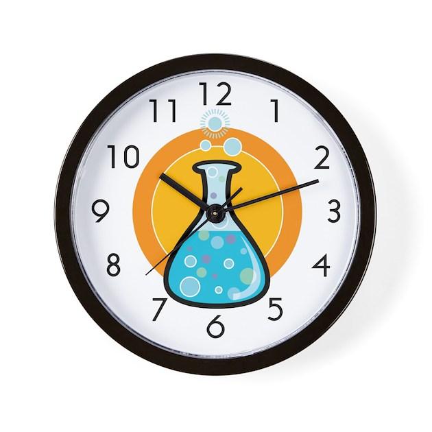 Science Beaker Wall Clock By Doonidesigns