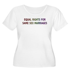 Equal Rights For Same Sex Marriages T-Shirt