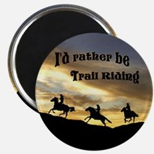 Rather Be Trail Riding Magnet