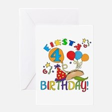 Fiesta 4th Birthday Greeting Card