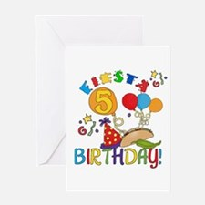 Fiesta 5th Birthday Greeting Card