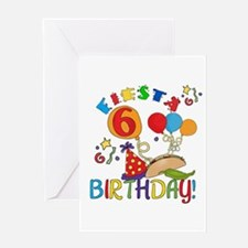 Fiesta 6th Birthday Greeting Card