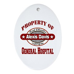 Property of Alexis Davis Ornament (Oval)