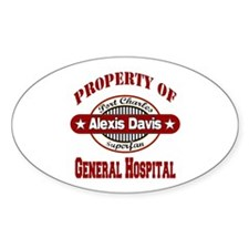 Property of Alexis Davis Sticker (Oval)