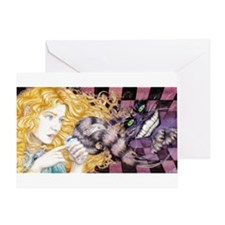 Alice & Cheshire (light) Greeting Card