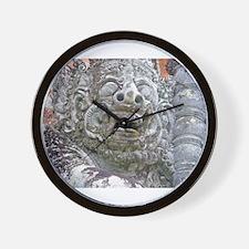 Balinese Temple Guardian Wall Clock