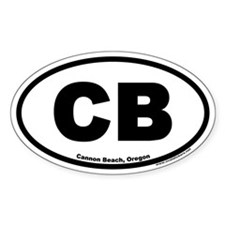 Cannon Beach Oregon CB Euro Oval Decal