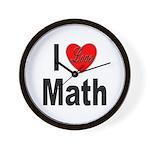 I Love Math Wall Clock