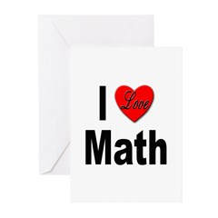 I Love Math Greeting Cards (Pk of 10)