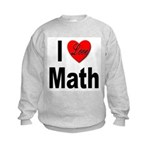 I Love Math (Front) Kids Sweatshirt
