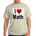 I Love Math Ash Grey T-Shirt