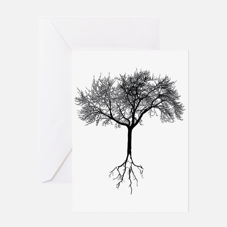 Cute Tree roots Greeting Card