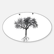 Unique Tree roots Sticker (Oval)