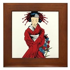 Cute Woman's Framed Tile
