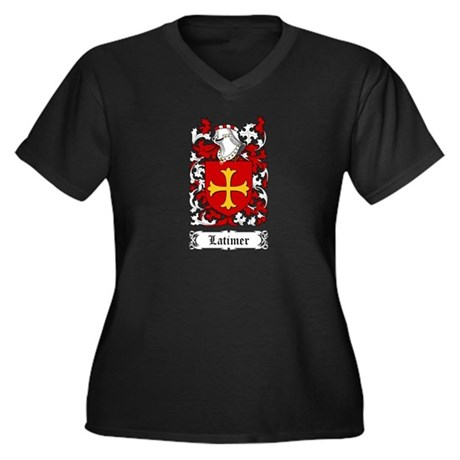 Latimer Women's Plus Size V-Neck Dark T-Shirt