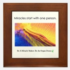One Person Miracle Framed Tile