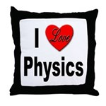 I Love Physics Throw Pillow