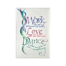 Work Love Dance Rectangle Magnet