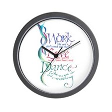 Work Love Dance Wall Clock