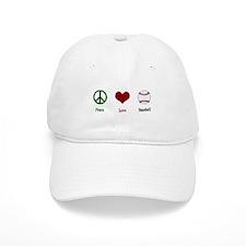 Peace Love Baseball Baseball Cap