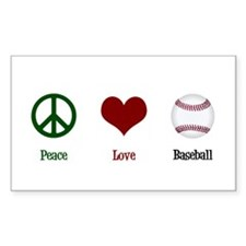 Peace Love Baseball Decal