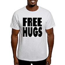 Free Hugs Ash Grey T-Shirt