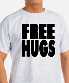 Free Hugs Ash Grey T-Shirt