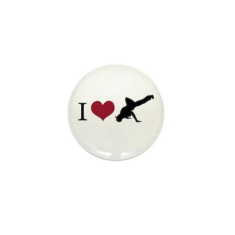 I Love Breakdance Mini Button