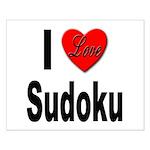 I Love Sudoku Su Doku Small Poster