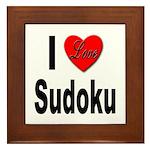 I Love Sudoku Su Doku Framed Tile