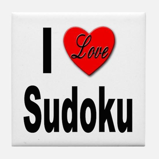 I Love Sudoku Su Doku Tile Coaster