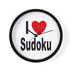 I Love Sudoku Su Doku Wall Clock