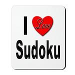 I Love Sudoku Su Doku Mousepad
