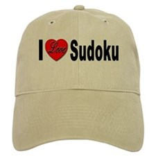 I Love Sudoku Su Doku Baseball Cap